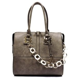 Handbags - NEW Acrylic Chain Top Handle Day Satchel
